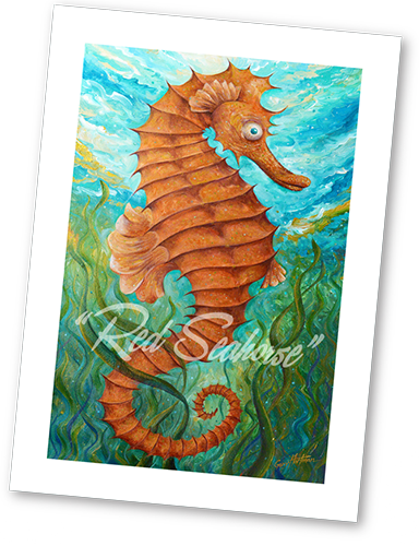 red-seahorse